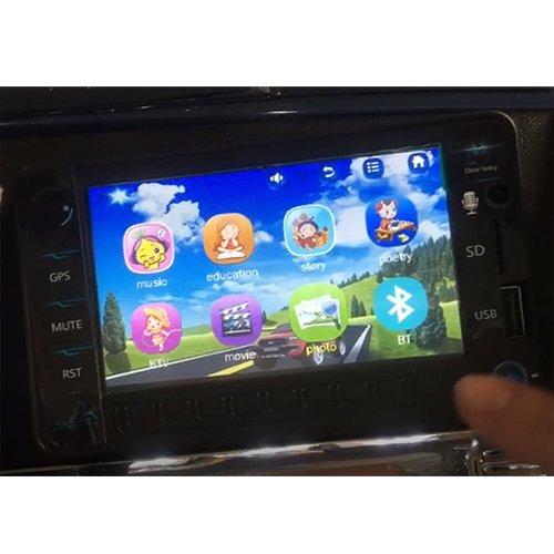 RC Auto kaufen Kinderauto Bild 6: crooza Touareg Touch-Display Bluetooth SoftStart Kinderauto Kinderfahrzeug Kinder Elektroauto SCHWARZ*