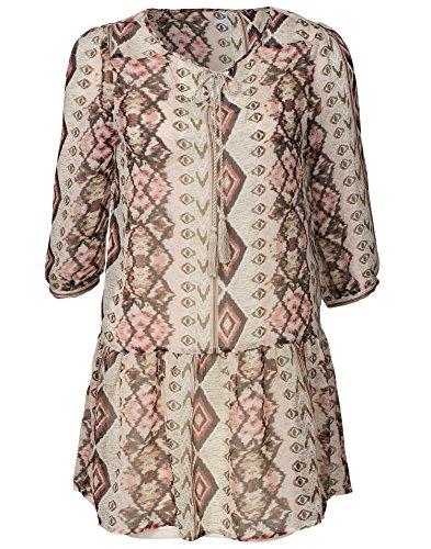 VERO MODA Damen 10137559 Bluse, Mehrfarbig (Marsala AOP:Marrakech Comb), 36 (Herstellergröße: S)