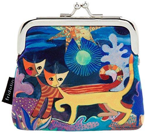 ワンダーランド-2匹猫小銭入れ、ロジーナ・ヴァハトマイスターのデザイン