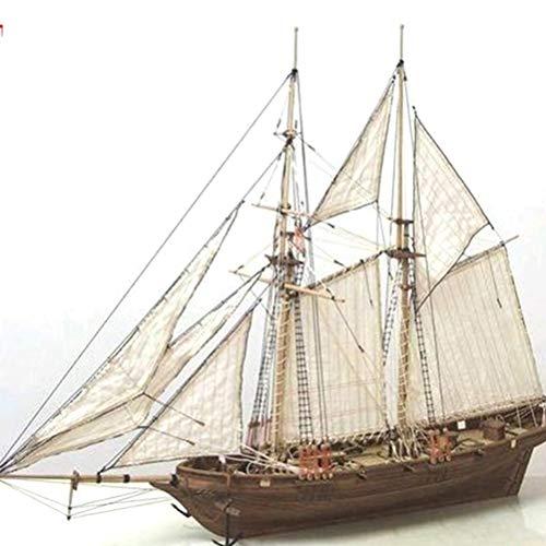 Ahagut 3D Puzzle Schiff Segelboot Holzpuzzle Modellbau Set Denkspiel Holz Modellbausatz DIY Puzzle Model Holzbausatz für Erwachsene und Kinder