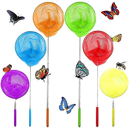 Guuozzli 6 PCS Telescopic Butterfly Fishing Nets,Insect Catching...