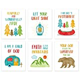 "Colorful Bible Verse Canvas Posters ,Kids Inspirational Quotes Wall Art Set of 6(8""X10"", Unframed),Woodland Animals Art Print For Children' s Classroom,Playroom Sunday School Decor"