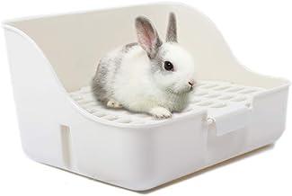 Md trade Square Potty Trainer Corner Litter Bedding Box Pet Pan for Small Animal/Guinea Pig/Rabbit/falesaur/Ferrets(White)