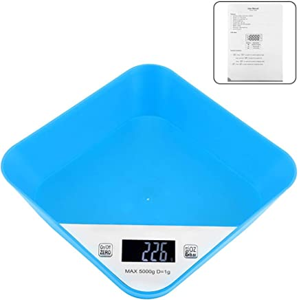 5kg/1g High Precision Portable Practical Electronic Digital Scale Weight Balance for Kitchen(Blue)