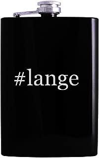 #lange - 8oz Hashtag Hip Alcohol Drinking Flask, Black