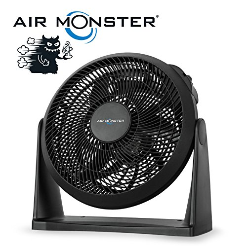 Air Monster® 2-in-1 Wand & Boden Windmaschine/Ventilator | Ø 30 cm | 45 Watt | 3-Stufen | Standventilator/Wandventilator