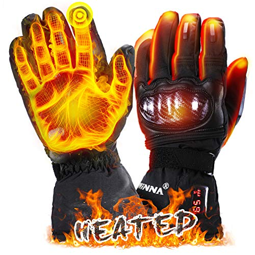 winna Heated Gloves, Battery Electric Motorcycle Gloves, Touchscreen Heated Skiing Gloves & Snowboarding Gloves for Men