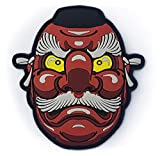 Generic PVC Red Japanese Tengu Mask Morale Tactical Patch with Hook-and-Loop Backing, 4' tall, Large