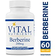 Vital Nutrients - Berberine - Supports Regular and Normal Bowel Function - 60 Capsules