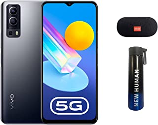 vivo Y72 5G Dual SIM 128GB 8GB RAM, Graphite Black with Bluetooth Speaker and Thermos Flask