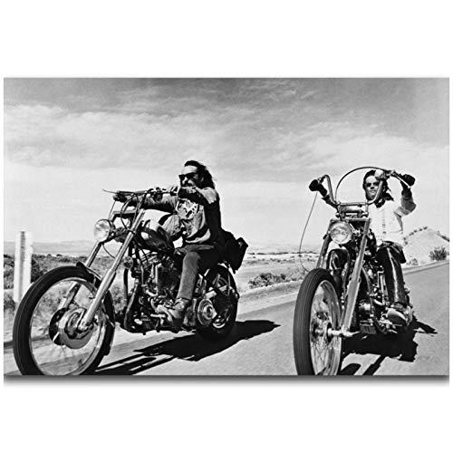 DOAQTE Easy Rider 1969 Cartel de película clásica impresión en Lienzo decoración de habitación Lienzo Arte de Pared Impresiones decoración de Pared Pintura 60X90cm sin Marco 1 Uds