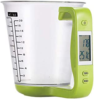 WoCoo Electronic Cup for Kitchen Weigh Digital Measuring Jug Electronic Cup Scale Detachable LCD Display(Green)