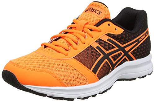 Asics Patriot 8, Zapatillas de running Hombre, Multicolor (Hot Orange/black/white), 43.5 EU