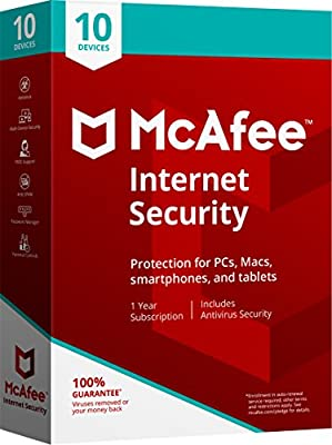 McAfee 2018 Internet Security - 10 Devices [Obsolete]