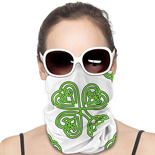 Celtic Knot Shamrock On White Headwear Headband Multifunctional Scarf Bandana Face Mask for Women Men