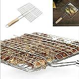 Ardorlove Barbecue Grilling Basket - Plus Coarse Grill Basket - Fish Clip Barbecue Mat - Portable Foldable BBQ...