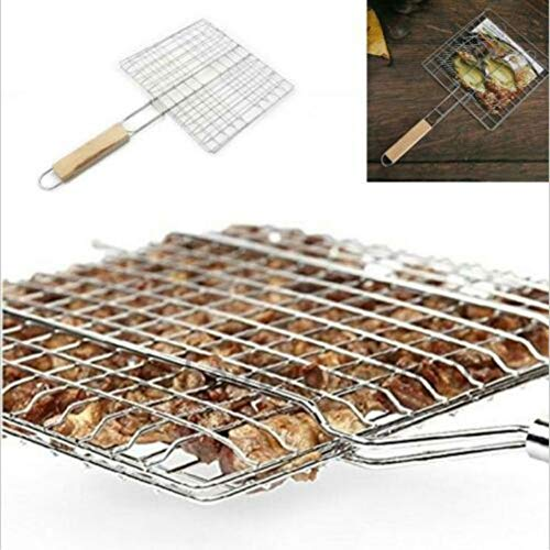 Ardorlove Barbecue Grilling Basket - Plus Coarse Grill Basket - Fish Clip Barbecue Mat - Portable Foldable BBQ Tool for Meats, Fishs, Seafoods, Vegetables,Iron Wire