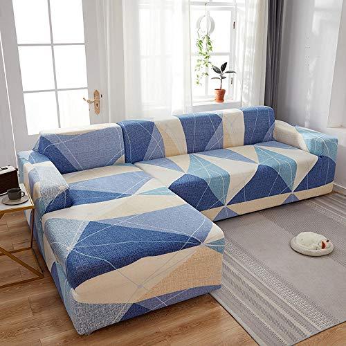 Fsogasilttlv Funda Elástica de Sofá 3 plazas, Fundas de sofá elásticas Impresas elásticas para sofá, Funda para sofá seccional de Esquina N