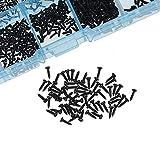 tornillos de metal 1000 unids / set M1 M1.2 M1.4 M1.7 MIXA PA PHILLIPS CABEZA Micro Tornillos Micro Tornillos Redondos Auto-tapping Electronic Tornillos de madera Pequeño Kit Drywall Tornillo Sujetado