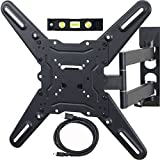 VideoSecu ML531BE TV Wall Mount for Most 27-55 LED LCD Plasma Flat Screen Monitor up to 88lbs VESA 400x400 with 20 inch Extension Arm, HDMI Cable Bubble Level WP5