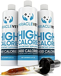 Miracle Vet High Calorie Weight Gainer for Dogs & Cats – 2,400 Calories. Adds..