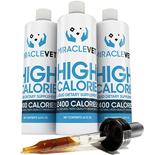 Miracle Vet High Calorie Weight Gainer for Dogs & Cats - 2,400 Calories (1 Bottle - 16 oz)