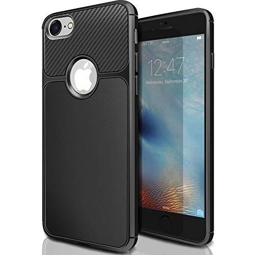 ivencase iPhone 6s Plus / 6 Plus Funda Silicona TPU de Flexibilidad Carcasa Case Bumper Ultra Delgado Espalda Case Cover para iPhone 6s Plus / 6 Plus 5.5' Negro