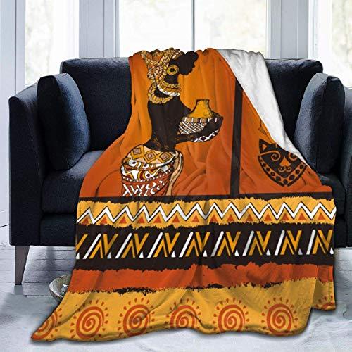 Popcorn In Spring Afrikanische Schwarze Frau Schildkröte Vintage Flanell Plüsch weiche Decke schwarz Super weich gemütliche Bettdecke