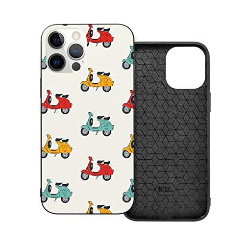 Funda protectora compatible con iPhone 12 / iPhone 12 Pro Retro Vespa Phone Cases/Cover Soft Silicona TPU