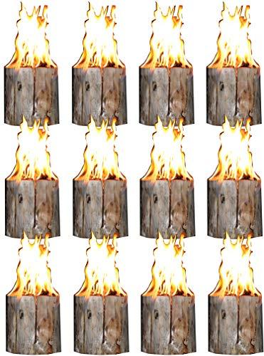 Hoyo Technology GmbH 12 Stück Schwedenfeuer Baumfackel Finnenfackel Gartenfackel Fackel Höhe = 19 cm; Ø = 9-14 cm
