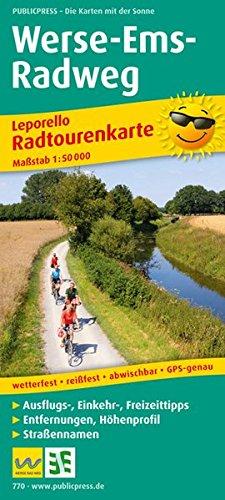 Werse-Ems-Radweg: Leporello Radtourenkarte mit Ausflugszielen, Einkehr- & Freizeittipps, Entfernungen, Höhenprofil, Straßennamen, wetterfest, ... 1:50000 (Leporello Radtourenkarte / LEP-RK)