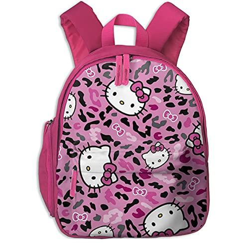 Hello Kitty Cheetah Mochila escolar para niñas, mochila grande para viajes escolares