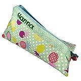 Grünes Federmäppchen für Mädchen & Junge mit Name,personalisiert, 20x10 cm, für Schulanfang, als Geschenk, Stifteetui, Federmäppchen Name