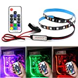 RGB LED Light Strip 19.7inch / 50cm 12V DC for Computer Case Decoration with Remote Controller