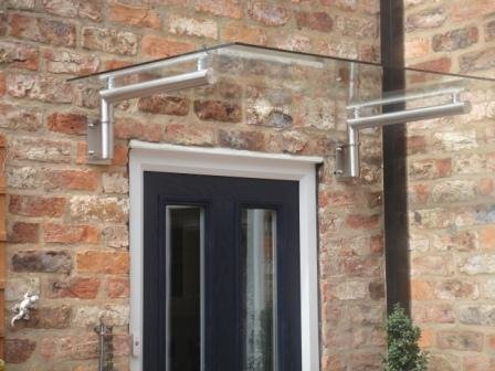Dio-Met Stainless Steel + Real Glass Canopy Porch
