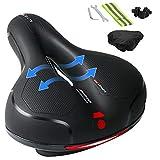 Ankuka Bike Seat Cushion, Comfortable Memory Foam Waterproof Bicycle Saddle, Universal Fit, Shock...