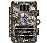 Tovendor Trail Cameras with Night Vision Motion Activated Waterproof, 16MP Game Camera No Glow for Wildlife Monitoring with 2.4'' LCD 90° Detecting Range
