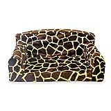 Animal Sofá para mascotas con jirafa grande, 3 tamaños, funda de cama para perro, fabricado en el Reino Unido (pequeño 82 x 46 x 34 cm)