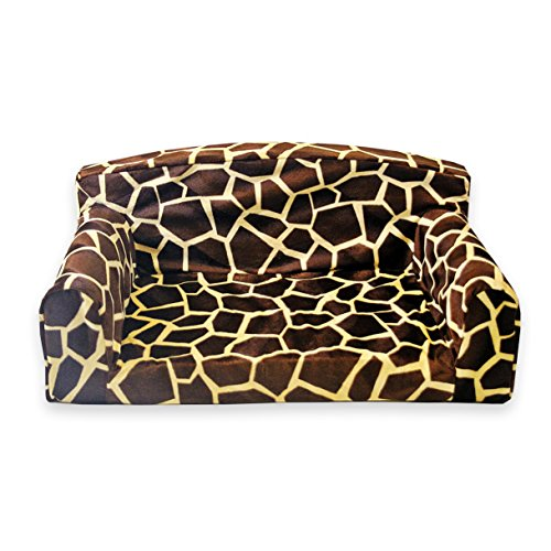 Animal Big Giraffe Pet Sofa. 3 sizes Dog bed cover material. Made in UK (Large 96cm x 64cm x 34cm)