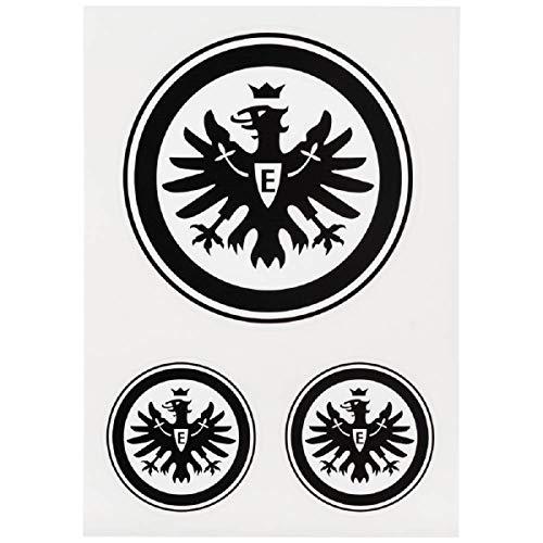 Eintracht Frankfurt 3er Set Aufkleber, Sticker, Autoaufkleber Logo schwarz - Plus gratis Aufkleber Forever Frankfurt