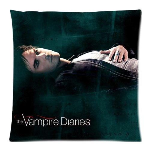 Kissenbezug, Motiv The Vampire Diaries Damon Salvatore/Ian Somerhalder, doppelseitig, ca. 45 x 45 cm
