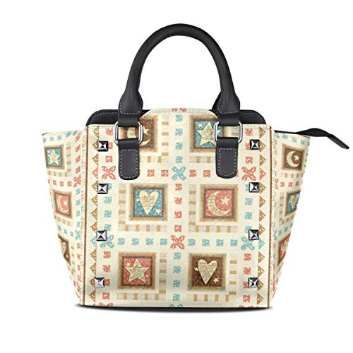 DEZIRO Klassische Handtasche mit Steppmuster für den täglichen Gebrauch