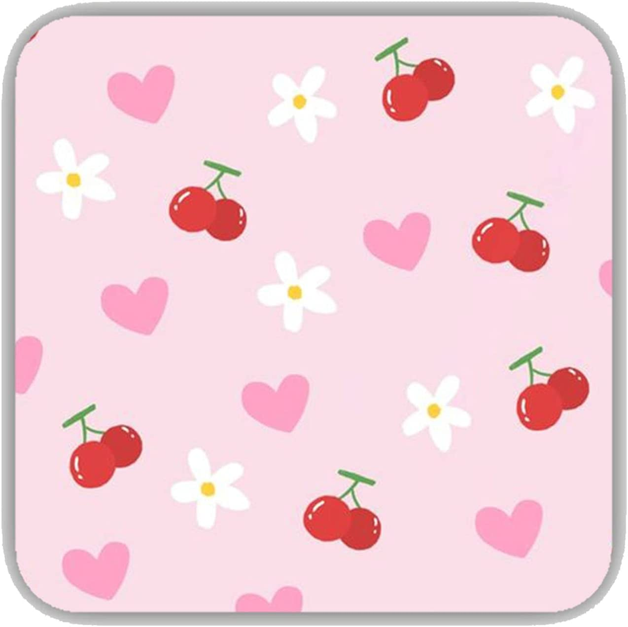 MDF Beauty products Material Ranking TOP3 Womon Have Pink Square Compatible Heart Coaster for