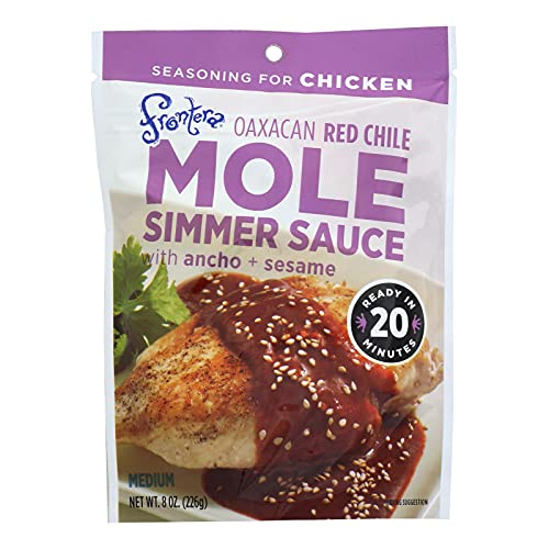 Frontera Foods Simmer Sauce - Oaxacan Red Chile Mole - with Ancho and Sesame - 8 oz - case of 6 -
