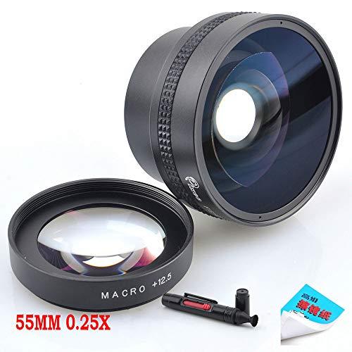 Pixco 55MM 0.25X Super Macro Wide Angle Fisheye Lens schroefdraad lens Voor Canon Fuji FX NIKON PENTAX DSLR SLR Camera met Lens cleaning papier & schoonmaak pen