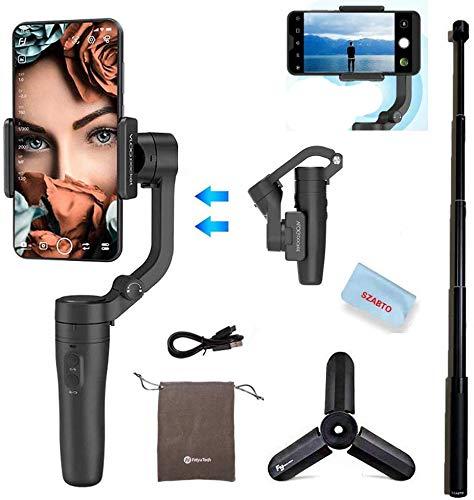 FeiyuTech VLOGpocket 3-Axis Handheld Foldable Gimbal Stabilizer for Smartphone...