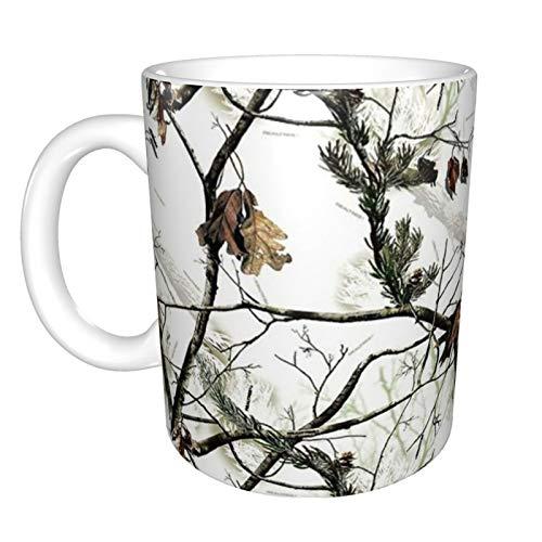 White Realtree Camo Graphic Ceramic Coffee Mug Tea Cup Fun Novelty Gift 11 Oz