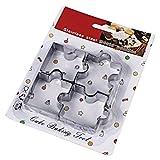 joyliveCY Edelstahl Puzzle kompatibel mitm Cookie Cutter für Fondant, Kuchen dekorieren Werkzeug