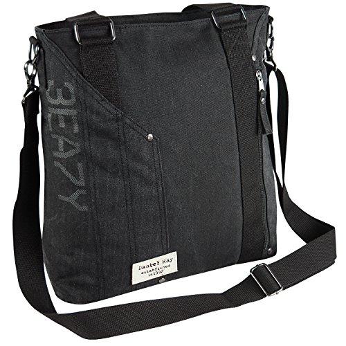 Daniel Ray Umhängetasche ODIN SHOPPER Schultertasche Handtasche Schwarz Black