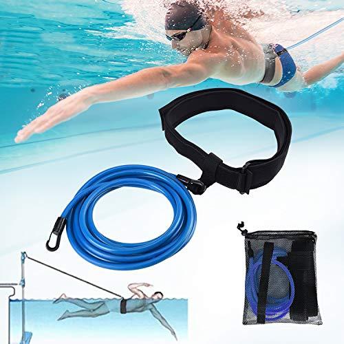 BOJLY Schwimmgurt für Pool 4M, Schwimmtrainer Schwimmgurt Schwimmtrainingsgurte Schwimmseil für Kinder/Erwachsene
